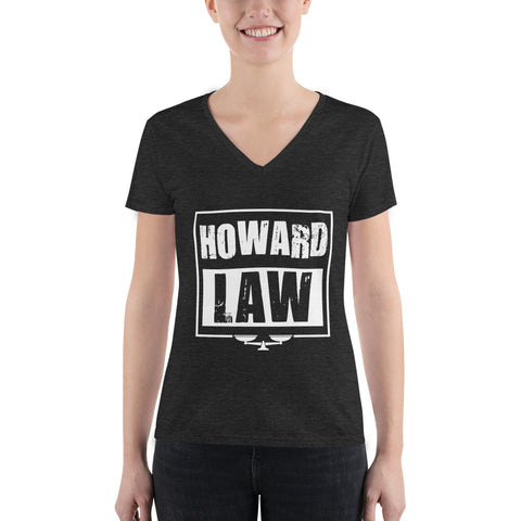 Howard Law Women's Fashion Deep V-neck Tee - RUNS SMALL - We Wear Our HBCUs