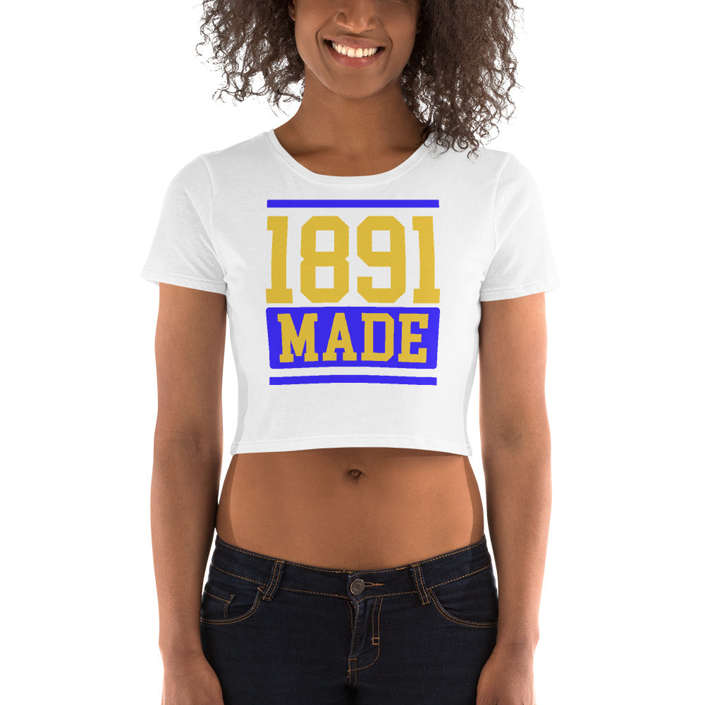North Carolina A&T 1891 Made Women's Crop Tee - We Wear Our HBCUs