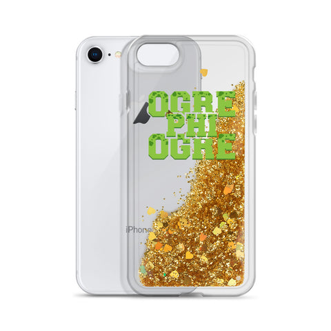 Hampton University Ogre Phi Ogre Liquid Glitter Phone Case