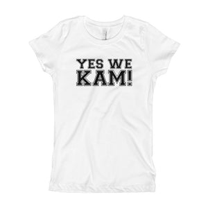 Yes We Kam Black Girl's Slim Fit Tee