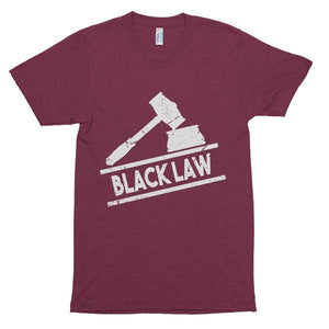 Black Law Premium Unisex Triblend Short Sleeve Soft Vintage T-shirt - We Wear Our HBCUs