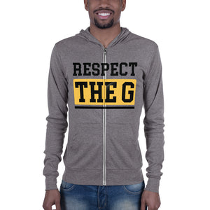 RESPECT THE G Grambling State University Unisex zip hoodie - We Wear Our HBCUs