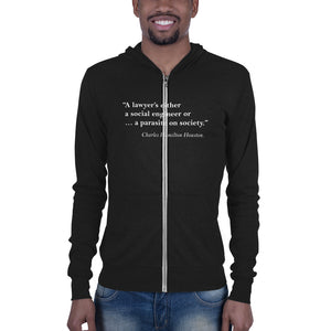 Howard Law Charles Hamilton Houston  Unisex zip hoodie - Men Size Down - We Wear Our HBCUs