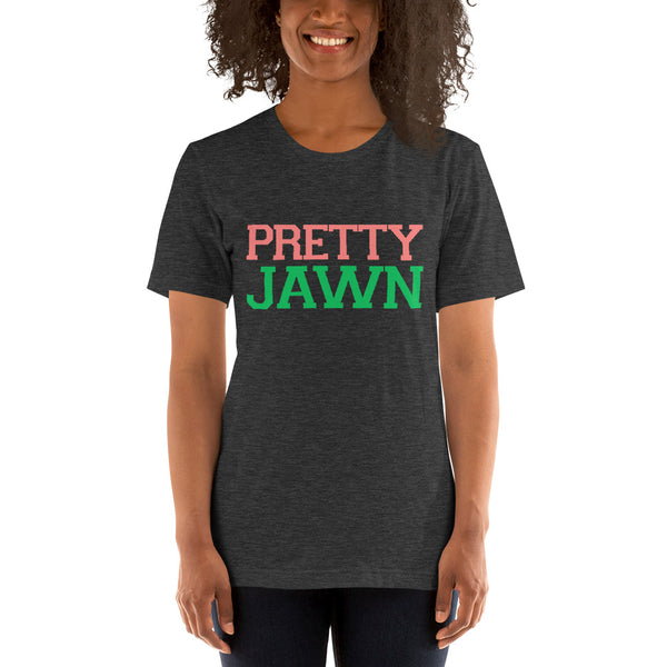 Alpha Kappa Alpha Pretty Jawn College Letter Unisex T-Shirt - We Wear Our HBCUs