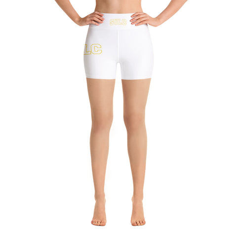 SULC  Southern University Law Center  Body-Flattering Yoga Shorts With High Waistband - We Wear Our HBCUs