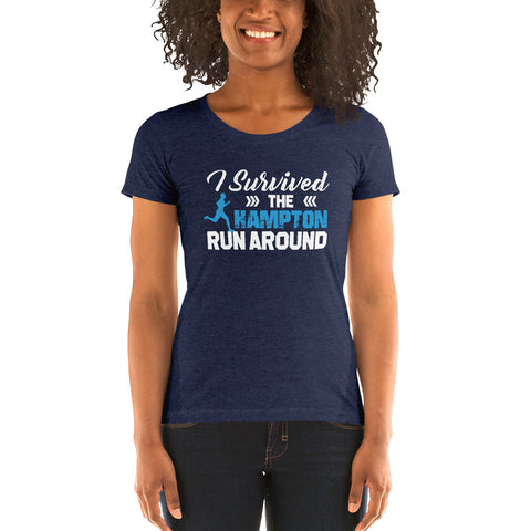 Hampton University I Survived The Hampton Run Around Short Sleeve T-shirt - We Wear Our HBCUs
