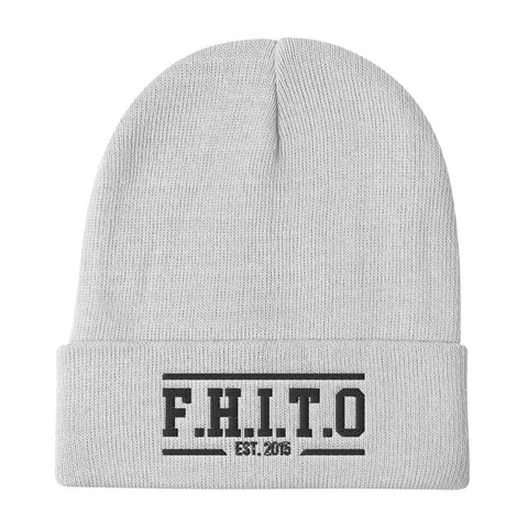 HUPS F.H.I.T.O. Embroidered Beanie - We Wear Our HBCUs