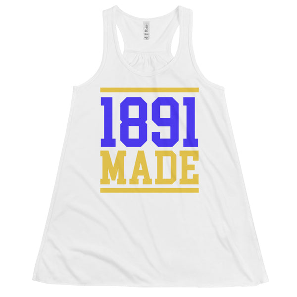North Carolina A&T - 1891 Made Women's Flowy Racerback Tank - We Wear Our HBCUs