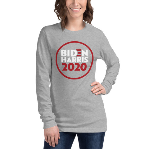 Biden Harris red and white Unisex Long Sleeve Tee