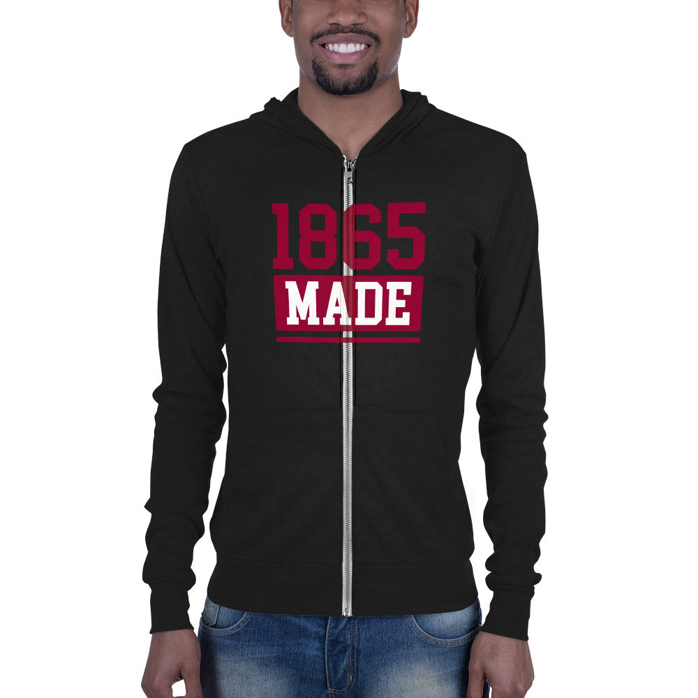 Shaw University 1865 Made Slim Fit Unisex zip hoodie - We Wear Our HBCUs