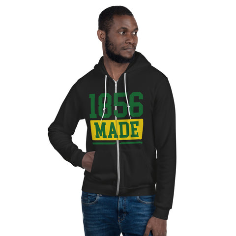 Wilberforce University 1856 Made  Unisex Zip-Up Fleece Hoodie - We Wear Our HBCUs