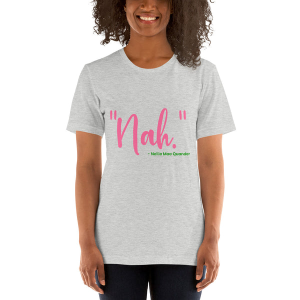 "Alpha Kappa Alpha ""Nah"" Nellie Mae Quander Short-Sleeve  Basic T-Shirt up to 4XL - We Wear Our HBCUs"