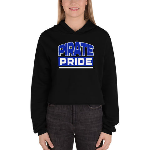 Pirate Pride | Hampton University | College Sweatshirt Drawstring Fall Crop Top Hoodie - We Wear Our HBCUs