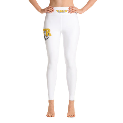 Tiger Pride Grambling State University High Waisted Yoga Leggings With Black Stitches - We Wear Our HBCUs