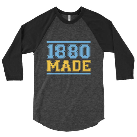 1880 Made Southern University A&M  3/4 sleeve raglan shirt - We Wear Our HBCUs