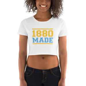 1880 Made Southern University A&M Women's Crop Tee - We Wear Our HBCUs