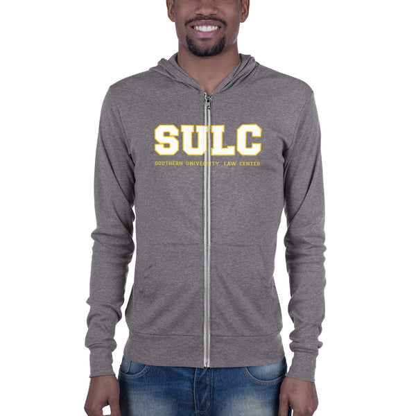 SULC | Southern University Law Center| Slim Fit Unisex Zip Hoodie With Kangaroo Pockets - We Wear Our HBCUs