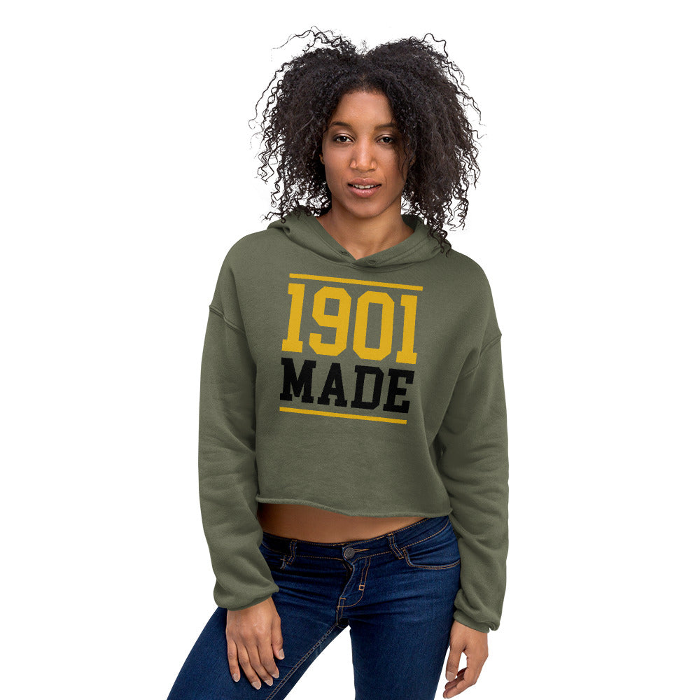 1901 MADE Grambling State University Crop Hoodie - We Wear Our HBCUs