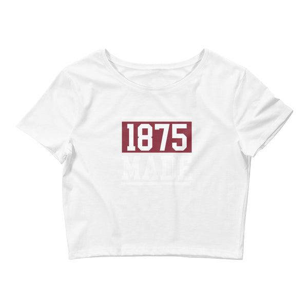 Alabama A&M 1875 Made Women's Crop Tee - We Wear Our HBCUs