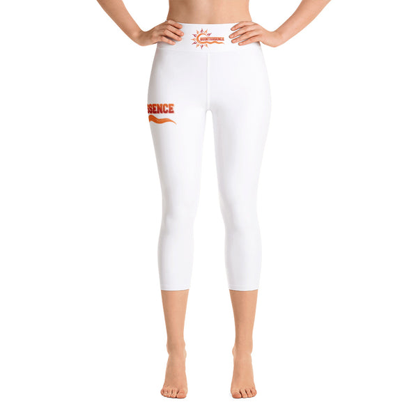 Quintessence | Hampton University | Yoga Capri Leggings With High Waistband - We Wear Our HBCUs