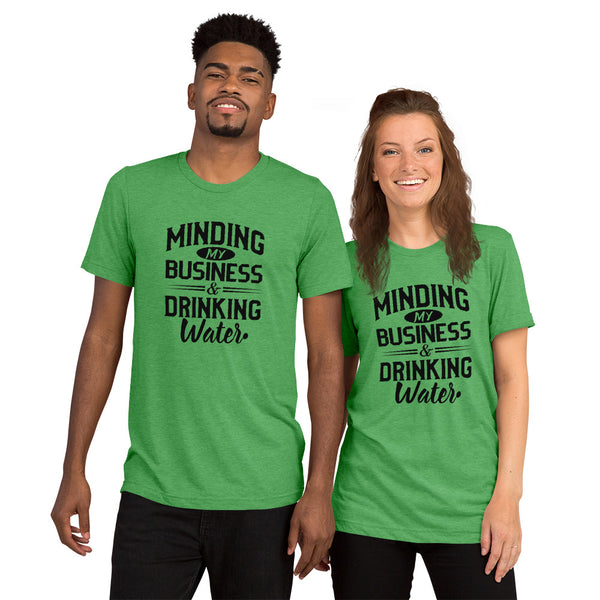 Minding My Business and Drinking Water Super Soft t-shirt - We Wear Our HBCUs