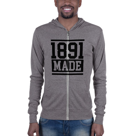 North Carolina A&T - 1891 Made Unisex zip hoodie - We Wear Our HBCUs