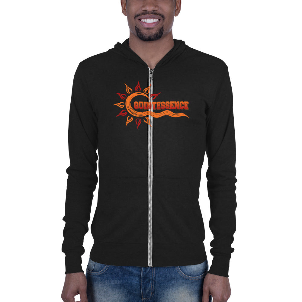 Quintessence Hampton University  Class Name  QT Cozy Unisex Zip Hoodie - Men Size Up - We Wear Our HBCUs