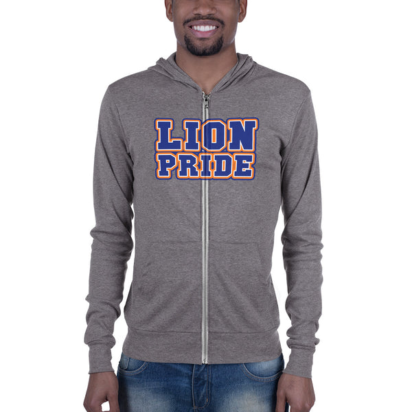 Lion Pride Lincoln University  LU Unisex zip hoodie - men size up - We Wear Our HBCUs