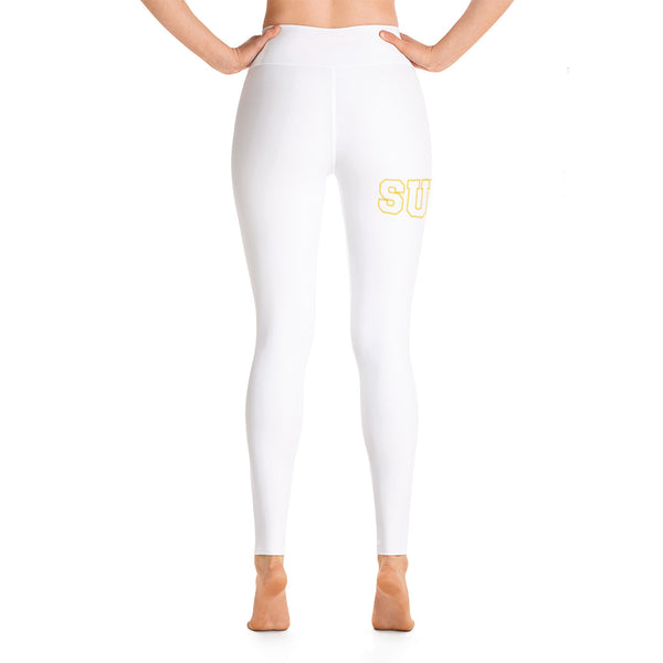 SULC | Southern University Law Center | Full Leg Yoga Leggings With Raised Waistband - We Wear Our HBCUs