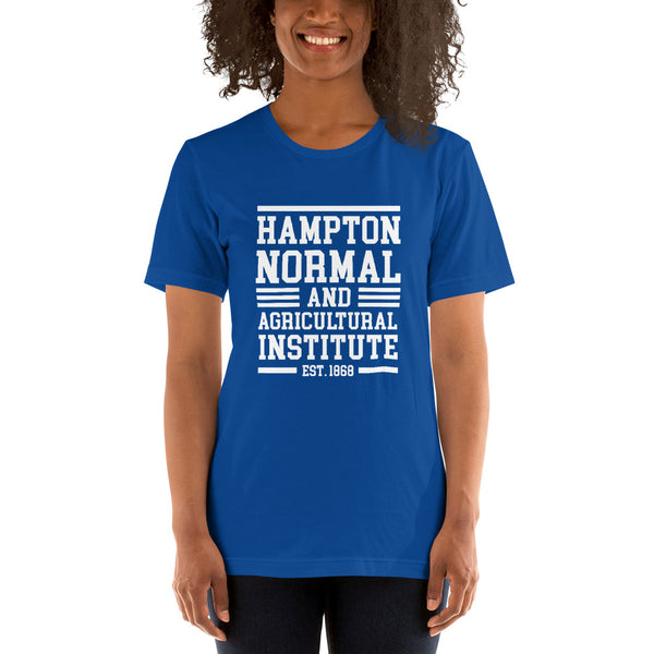 Hampton Normal & Agricultural Institute Short-Sleeve Unisex T-Shirt - We Wear Our HBCUs