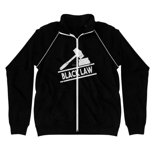 Black Law Fleece Jacket for Lawyers Attorneys and Law Students - We Wear Our HBCUs
