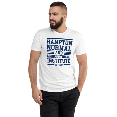 Hampton Normal & Agricultural Institute Men's Fitted T-Shirt up to 3XL Men's Fitted T-shirt - We Wear Our HBCUs