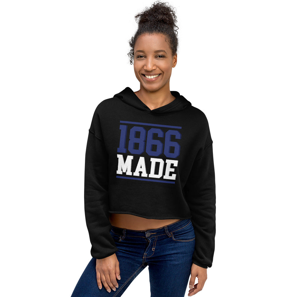 Lincoln University (MO) 1866 Made Cropped Hoodie - We Wear Our HBCUs