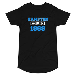Hampton University Hampton Excellence 1868 Made Long Body Tee - We Wear Our HBCUs