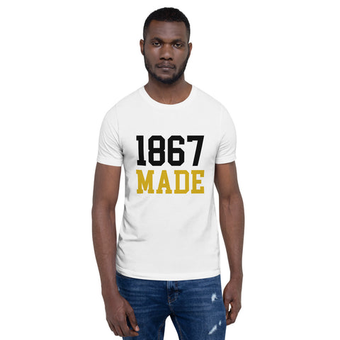 Alabama State University 1867 Made Basic T-Shirt up to 4XL - We Wear Our HBCUs