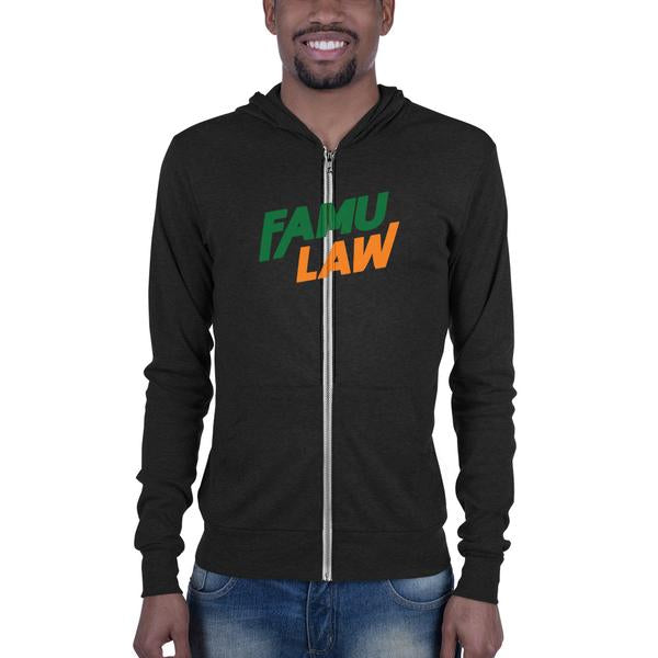FAMU Law Florida A&M College of Law Unisex Zip Hoodie - men size up - We Wear Our HBCUs