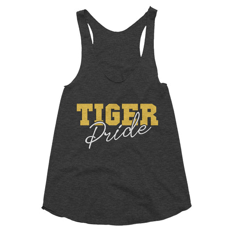 Tiger Pride Grambling State University  GSU Women's Tri-Blend Racerback Tank - We Wear Our HBCUs