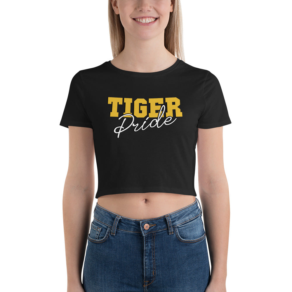Grambling State University Tiger Pride Crop Tee Shirt - We Wear Our HBCUs