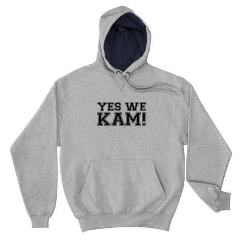 Yes We Kam Black Unisex Champion Hoodie