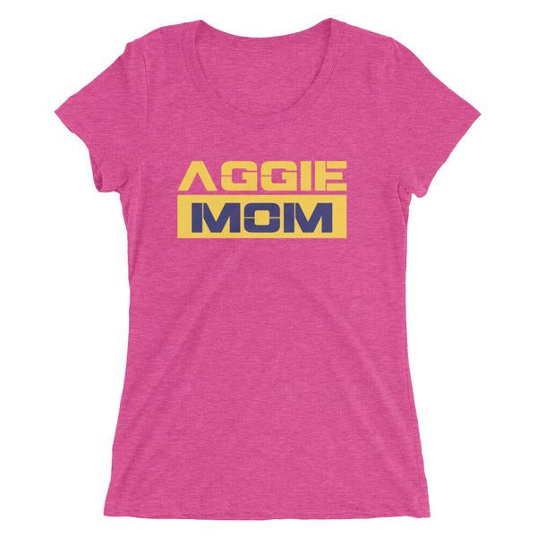 North Carolina A&T Aggie Mom Soft Crewneck Short Sleeve T-shirt - We Wear Our HBCUs