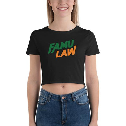 FAMU Law Florida A&M College of Law Women's Crop Tee - We Wear Our HBCUs