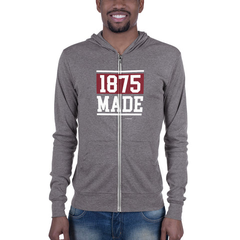 Alabama A&M 1875 Made Unisex Zip Hoodie - We Wear Our HBCUs