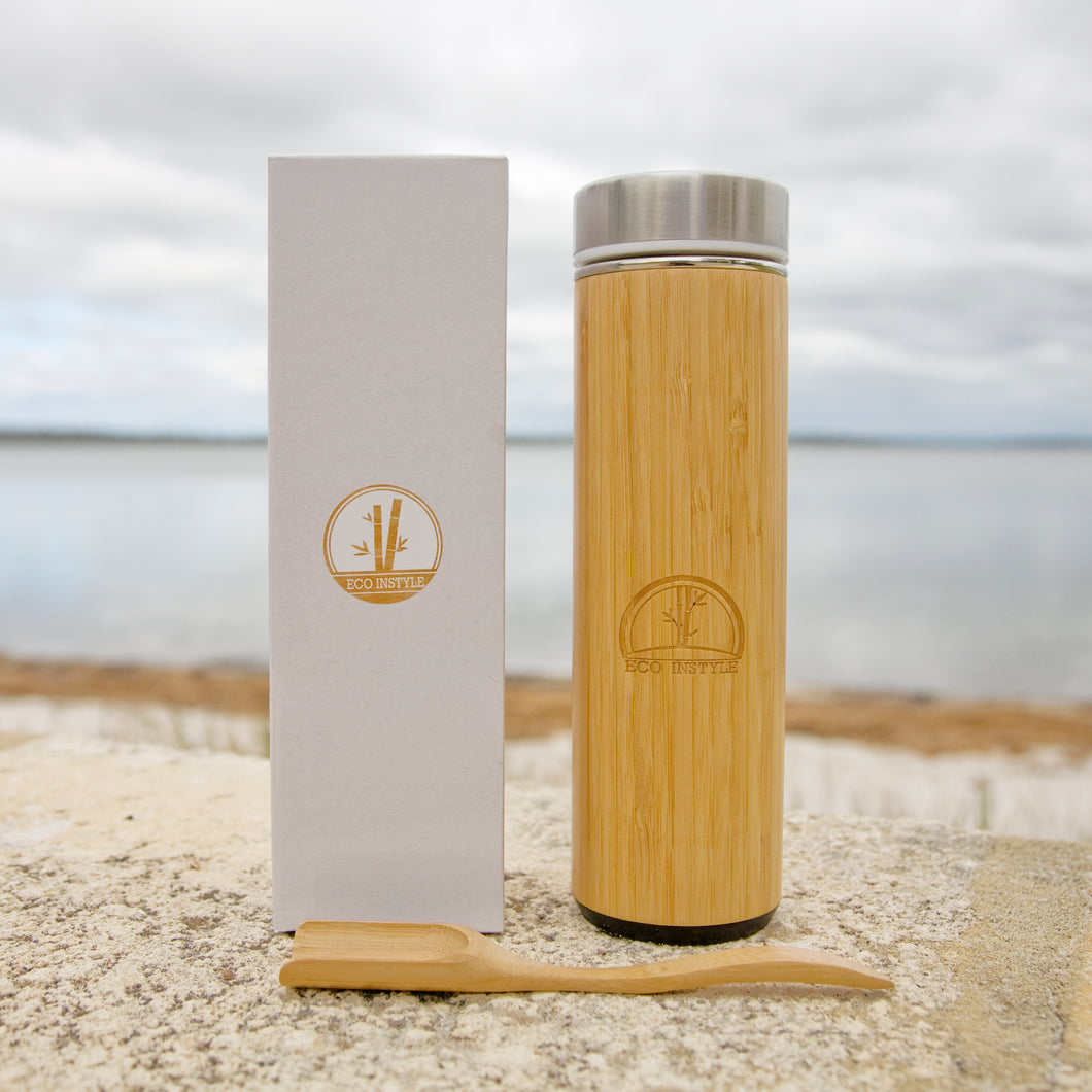 BAMBOO TEA FLASK WITH INFUSER