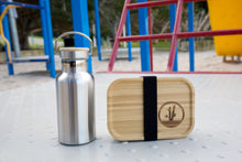 Load image into Gallery viewer, STAINLESS STEEL LUNCH BOX WITH BAMBOO LID