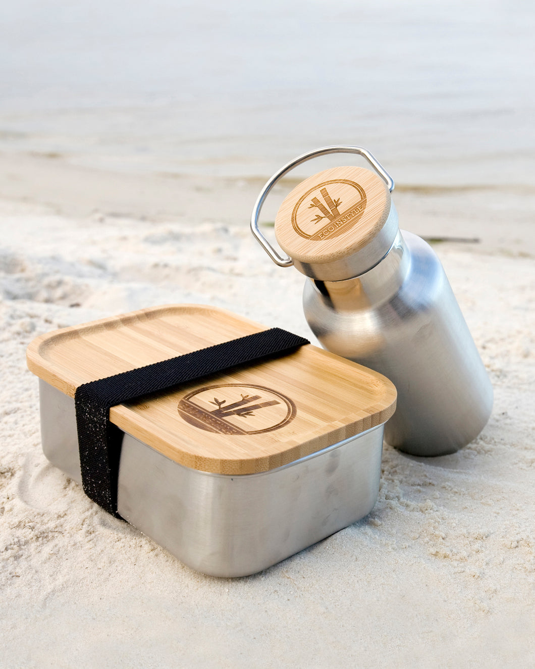 STAINLESS STEEL LUNCH BOX WITH BAMBOO LID