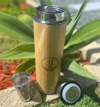 Load image into Gallery viewer, BAMBOO TEA INFUSER FLASK
