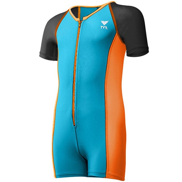 BOYS THERMAL SUIT BLUE/ORANGE TYR