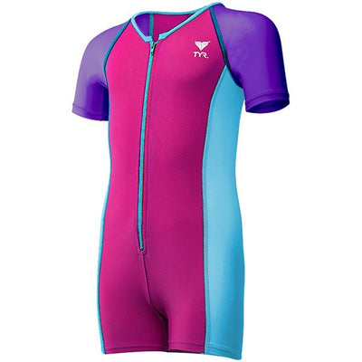 GIRLS THERMAL SUIT PURPLE/PINK/BLUE TYR