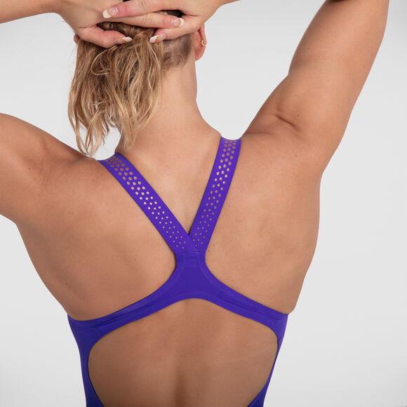 LZR INTENT OPENBACK KNEESKIN PURPLE YELLOW SPEEDO