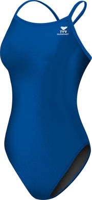 WOMENS SOLIDS DURAFAST ELITE DIAMOND FIT ONE PIECE ROYAL TYR